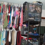 Donated items are stored in every nook and cranny waiting for the next Gran Bazar.