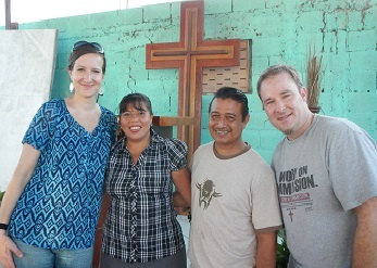 Anne and Christopher with Pastors Mariela and Salomon