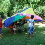 A parachute of color is fun whether you're under it or waving it for the others.