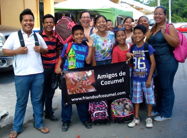 Charo's family appreciate the help of Friends of Cozumel.