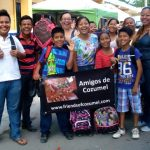 Charo's family is grateful for donated school supplies.