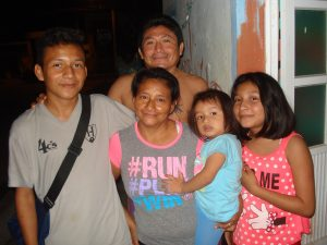 The family (from left): Manuel, Christina,Victor, Evelyn and Behlen.