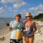David and Shelley admit to a bit of a litter pickup addiction after helping to clean beaches on Cozumel's east coast.