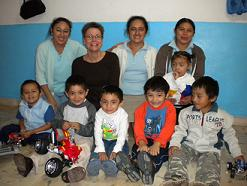 Ellen Look with NUAFA staff & kids
