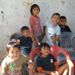 Children playing near the worksite were anxious to greet the gringos.