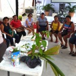 Workshop participants held an enthusiastic discussion about gardening.