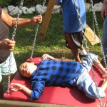 Jose was one of the first to try the new swing at Casita Corazon.