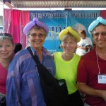 Phyllis, Shirley, Karen and David have fun working at the Gran Bazar.
