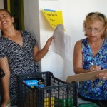 Susan (right) helped with backpack distribution at NUAFA.