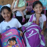Children at NUAFA were happy to get the supplies they need to attend school.