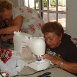 Workshop participants showed no hesitation to learn a new skill.