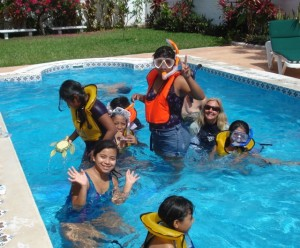 Everyone had fun at the snorkeling class.